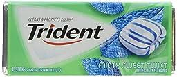 Trident Sugar Free Gum (Minty Sweet Twist, 18-Piece, 12-Pack)