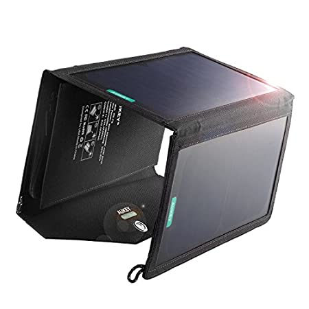 Natural Energy Make full use of the clean and unlimited solar power around us. Simply unfold the Aukey solar charging panel under the sun, connect your devices and watch the battery level start raising. More Efficient From the moment it is p...