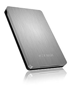 Icy Box IB-234U3 SATA HDD/SSD Aluminium Hair Lined Case Design External Enclosure for 2.5 inch Laptops