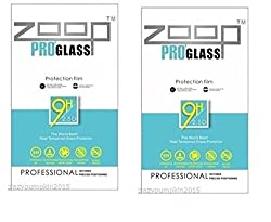 Zoop Premium 2.5D Rounded 9H 2.6mm Anti Burst Tempered Glass Pack of-2 for Pack of-2 for Samsung Galaxy S Duos 7562