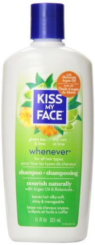 kiss-my-face-whenever-shampoo-natural-shampoo-with-green-tea-lime-11-ounce-pack-of-3-by-kiss-my-face