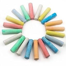 Relaxdays Playground Chalk ful Washable Set Of 20 Chalk Sticks