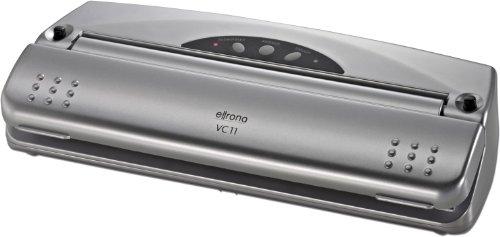 Ellrona VC 11 Vakuumierer (61360), 110 W, natürliches Aufbewahren ohne Konservierungsstoffe, Schutz vor Gefrierbrand, Lebensmittel bleiben bis zu 8x länger frisch, inkl. 10 gratis Profi-Beutel