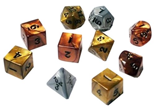 1 X Koplow RPG Dice Sets: Assorted Olympic Polyhedral 10-Die Set