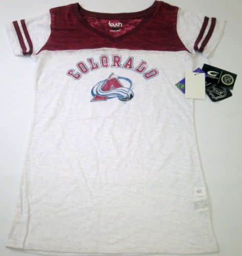 Colorado Avalanche NHL Touch By Alyssa Milano Womens Premium T-shirt (Small) at Amazon.com