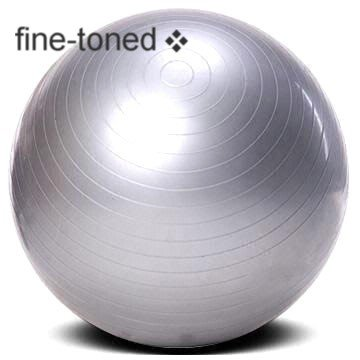 fine-toned -EXERCISE ,GYM,YOGA BALL 75cm +PUMP-ANTI-BURST - strong 300kg SGS load tested / anti slip -NEW!!!