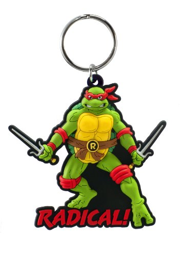Nickelodeon Raphael Soft Touch PVC Key Ring - 1
