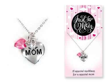 Just For You Mom Pendant Charm Necklace