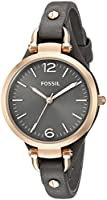 Fossil Women's Quartz Watch Ladies Dress ES3077 with Leather Strap