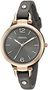 Fossil - ES3077 - Montre Femme - Quartz Analogique - Bracelet Cuir Gris