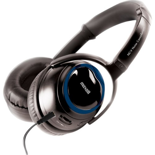 Brand New Maxell Nc-V Noise Redux Noise Canceling Headphones With Amp