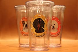 Dachshund Black Dog Clear Insulated Tumbler Grande To-Go Cup