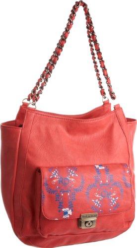 Red Or Dead Women's Tatting 02 Shoulder Bag Coral