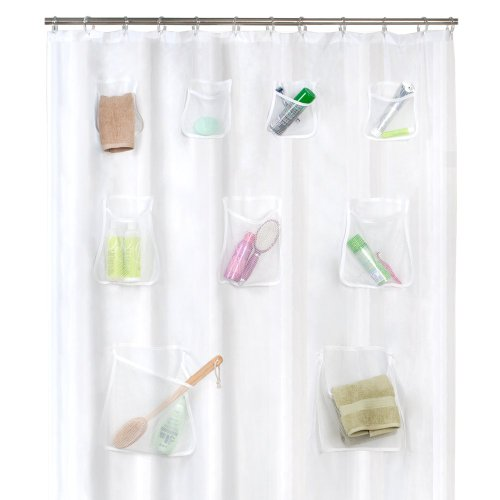 Maytex Mesh Pockets Shower Curtain