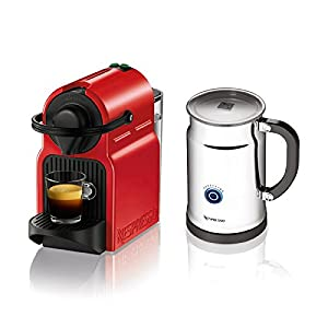 Nespresso Inissia Espresso Maker with Aeroccino Plus Milk Frother from Nespresso