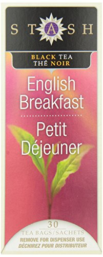 Stash Tea English Breakfast Black Tea, 30 Count Tea Bags In Foil (Pack Of 6)