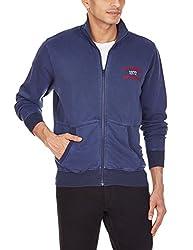 Turtle Men's Cotton Sweatshirt (8907101730534_39831_40_Blue)