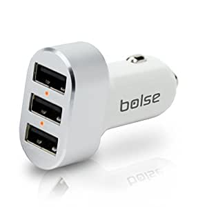 Bolse USB Car Chargers (27W / 5.4Amps), Provides Maximum Power For 3 Devices At Once With SmartICTM Technology Charging Station for iPhone 5, 4S; Samsung Galaxy S5, S4, Galaxy Note 3, 2; iPad Air, 5, mini; MP3 Player