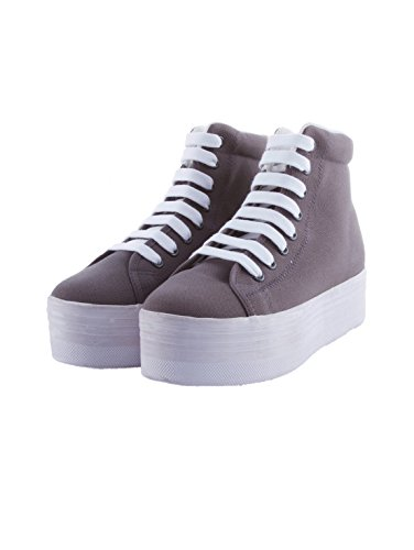 JC PLAY BY JEFFREY CAMPBELL HOMG WASHED CANVAS GREY (39)