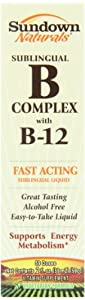 Sundown Vitamin B12 Complex Sublingual Liquid, 2 Oz