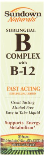 Sundown Vitamin B12 Complex Sublingual Liquid, 2 Oz