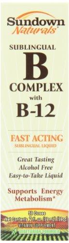 Sundown Naturals Vitamin B-12 Complex Sublingual Liquid, 2 Ounces