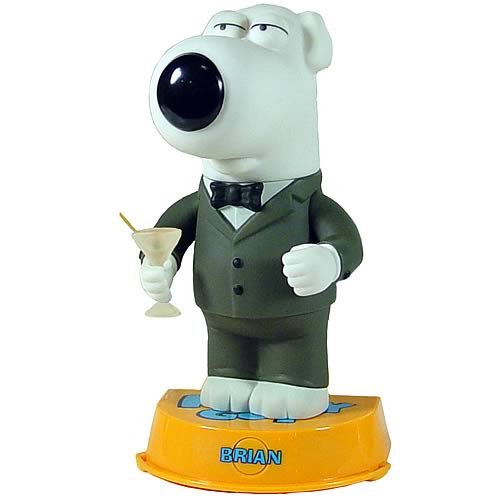 Buy Low Price Mezco Family Guy: 'Talking' Brian Deluxe Action Figure (B000P740T0)