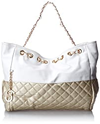 MG Collection Camryn Quilted Oversized Hobo Handbag, Gold, One Size