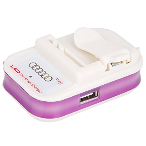 Great Value 600Ma Flashing Universal Charger With Led Display Purple