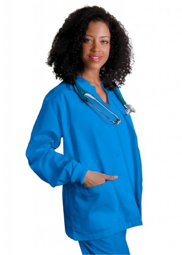 Adar Universal Round Neck Warm-Up Jacket (Available In 39 Colors) - 602 - Electric Blue - S