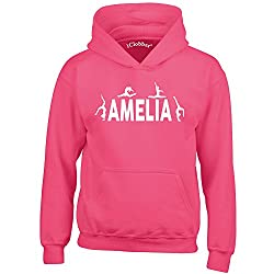 iClobber Gymnastics Hoodie for Girls Kids Personalised with Your Name or Club Name Gymnasts Design