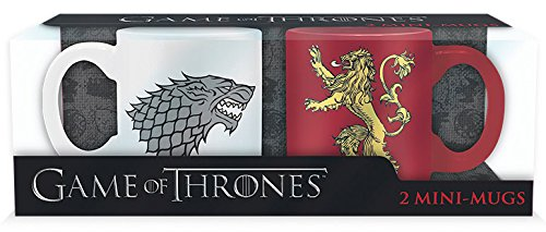 GAME OF THRONES Set 2 Mini-mugs Stark & Lannister