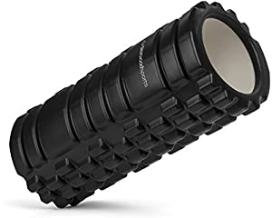 Foam Roller for Deep Tissue Muscle Massage - Trigger Point Therapy and Myofascial Release - Great Rehabilitation Tool for Fitness, CrossFit, Yoga & Pilates - Lifetime Guarantee (Black)