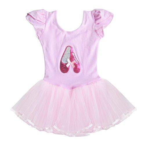 Efe Girls Kids Cotton Polyester Shoes Front Ballet Dress Color Pink Size 6-7