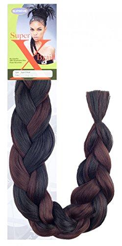 X-Pression(4 Packs Deal) #2-Dark Brown-Supreme Super X Braid 100% Kanekalon Braiding Hair-Senegal