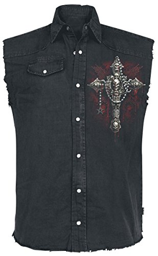 Spiral Death Bones Camicia senza maniche nero M