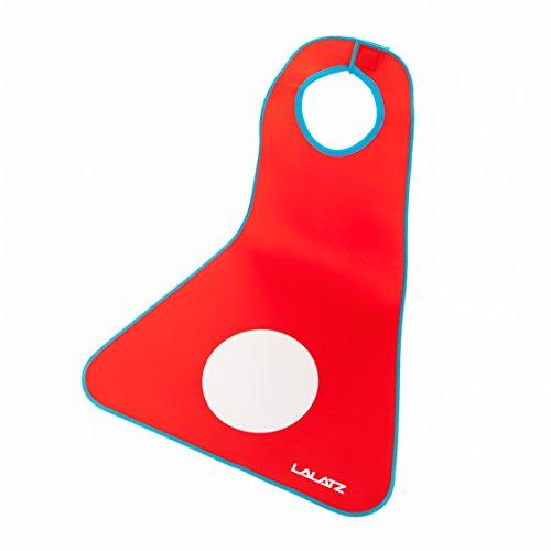 Lalatz-Baby-Kinder-Ltzchen-extra-gro-mit-Magnetverschluss-und-Auffangrinne-Auffangschale-wasserdicht-abwischbar-abwaschbar-antirutsch-Tischauflage-Halsausschnitt-Gre-Small