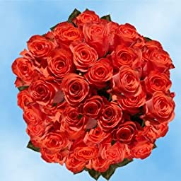 100 Fresh Cut Orange Roses for Mother\'s Day | Impulse Roses | Fresh Flowers Express Delivery | The Perfect Mother\'s Day Gift