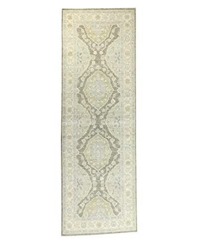 Bashian Rugs Hand-Knotted Pakistani Mansehra Rug, Moss, 2' 7 x 7' 10 Runner