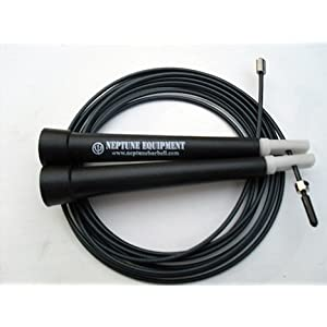 Neptune Crossfit Ultra Cable Speed Jump Rope - Black