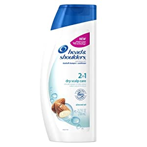 Head & Shoulders Dry Scalp Care With Almond Oil 2-In-1 Dandruff Shampoo And Conditioner 23.7 Fl Oz (Pack of 2) (packaging may vary)