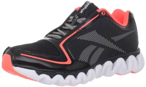 Reebok Ziglite Running Shoe (Little Kid/Big Kid),Black/Vitamin C/White/ Grey,4.5 M Us Big Kid