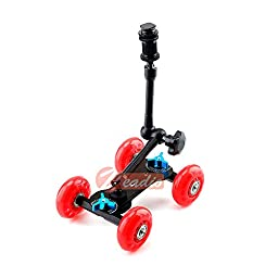 Zeadio ZVDM-0311 Red Tabletop Portable Skater Dolly Car + 11\