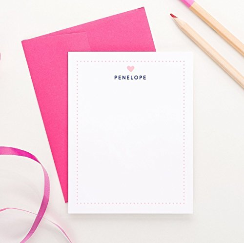 Personalized Thank you cards for Kids, Personalized Stationery for kids, Girls Personalized Stationary set, (Personalized Writing Paper compare prices)