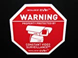 6 Alarm System Surveillance Camera Warning Decals