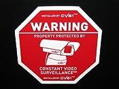 Amazon.com: 6 Alarm System Surveillance Camera Warning Decals: Everything Else