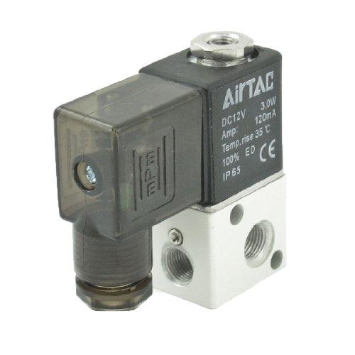 3V1-06 2 Position 3 Wege Luft gas Magnetventil Ventil 12V DC 3W 120mA de