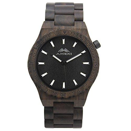 Amexi-Handgefertigte-Holz-Uhren-Herren-mit-Schwarz-Sandelholz