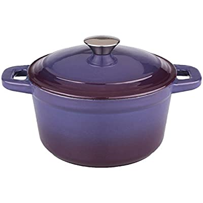 BergHOFF Neo Cast Iron Round Covered Dutch Oven, 3 quart, Purple