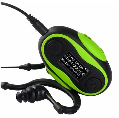Pd196: 8Gb Ipx8 Waterproof Mp3 Player With Fm Radio / Pedometer / Stop Watch Function (Green)